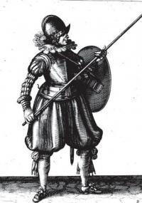 Le maniement d'armes de Nassau avec rondelles, piques, espée et targes; representez par Figures