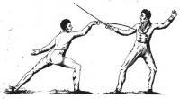 Tratado de esgrima á pié y á caballo, en que se enseńa por principios el manejo del florete, ó el juego de la espada que se usa en el dia, adornado con diez y seis láminas grabadas en cobre.