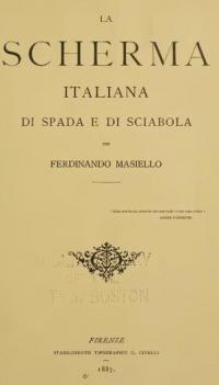 La scherma italiana di spada e di sciabola