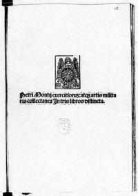 Petri Montii Exercitiorum Atque Artis Militaris Collectanea in Tris Libros Distincta