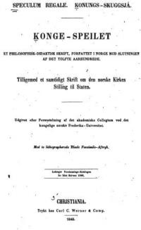 Speculum Regale - Konungs Skuggsja - Konge Speilet
